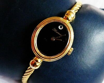 Vintage Swiss Made Hermes Gold Plated Ladies Hand Winding Bangle Wristwatch