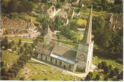 Painswick, Gloucestershire - St. Mary's Church - from air - postcard c.1970s