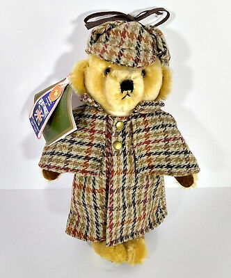 Merrythought Mohair Teddy Bear Sherlock Holmes Harrods UK Made in England 12""