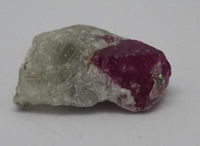 **Natural Ruby Red (Spinel) Crystals in Matrix from Vietnam 2.1g, Nice Grade**