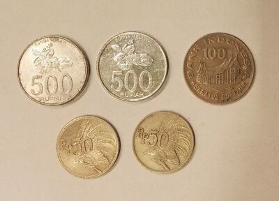 5 Indonesia Coins