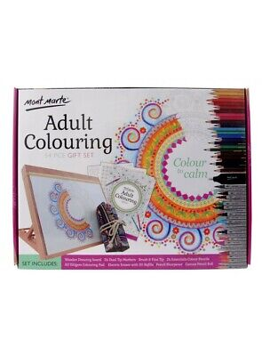 Mont Marte Adult Colouring Gift Set 54pc