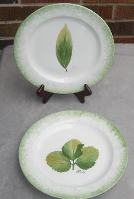 """Lot of 2 different Ethan Allen  Collectible  8"""" Plates Made in Italy"""