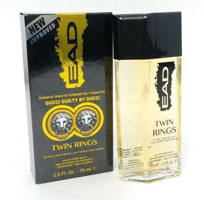 386be2d87 Twin Rings EAD Compare to Gucci Guilty by Gucci Spray 75ml Boxed Cologne Men