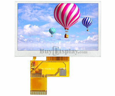 """Low Cost 4.3""""480x272 TFT LCD Display w/OPTL Resistive or Capacitive Touch Screen"""