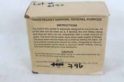 New Unopened Food Packet Survival General Purpose Ration