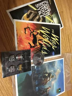 Loot Crate: Horror Movie Posters, God of War Poster, Game of Thrones Pins