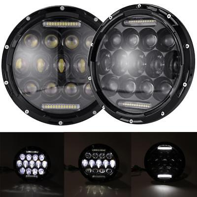 2x 7inch Round CREE LED Headlights Lamp w/ DRL For Jeep Wrangler JK JKU TJ CJ LJ