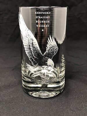 Eagle Rare Bourbon Bottle Glass barware custom made fire polished