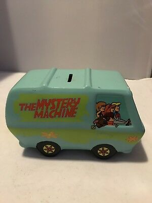"""Scooby Doo The Mystery Machine Ceramic Coin """"Piggy"""" Bank"""