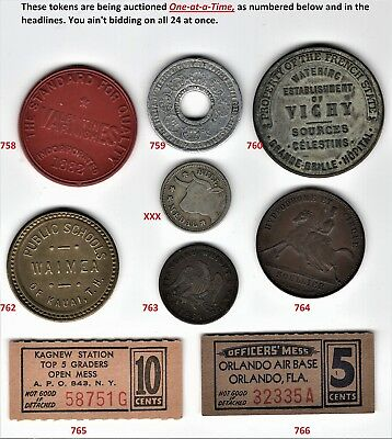Bickford Dollar, private pattern coin, center missing   TOKEN #759 ONLY  --BOSCO
