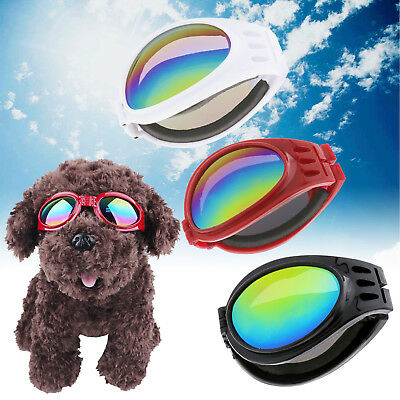 Pet Dog Doggy Sunglasses Toys Eye Wear Goggle Glasses Adjustable Strap Windproof