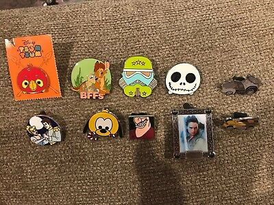 Pin Trading Disney Pins Lot of 10 As Pictured Mickey, Star Wars, Jack