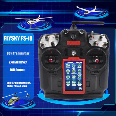 FLYSKY FS-I8 8CH 2 4GHz AFHDS 2A LCD Transmitter for Fixed