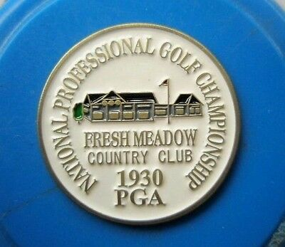 "1930 Us Pga (Tommy Armour's Only Pga Title) 1"" Metal Coin Golf  Ball Marker"