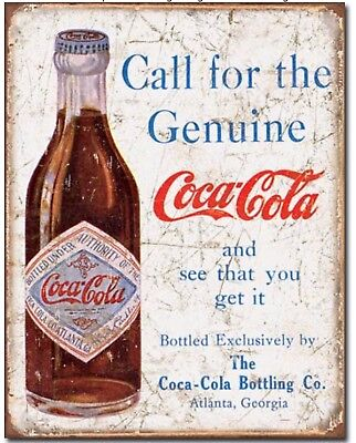 Coke Metal Tin Sign Coca Cola Vintage Bottle Wall Home Garage Bar Decor New