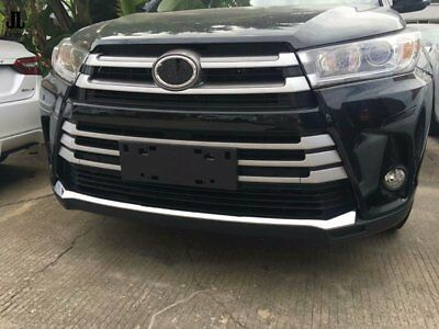 Chrome Grille Bumper Protector Guard Cover Trim For Toyota Highlander 2017-2018