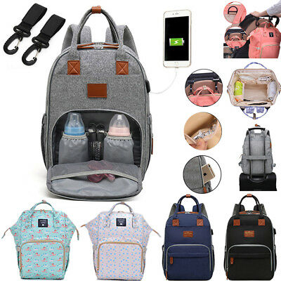 Baby Diaper Backpack Changing Large Bag Mummy Nappy Waterproof Multifunctional