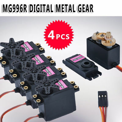 4Pcs MG996R Metal Gear Torque Digital Servo For Futaba RC JR Airplane Car Truck