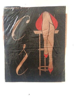 Calze vintage (Stocking - Bas) nylon RHT color carne 1 paio