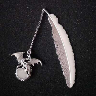 Glowing Flying Dragon Feather Student Favor Bookmarks Ornaments Office Supply 6A