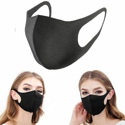 3Pcs Washable Earloop Mask Cycling Anti Dust Mouth Face Mask Surgical Respirator
