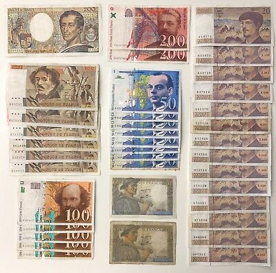 36 x Mixed Banknote Collection - FRANCE.  (2385)
