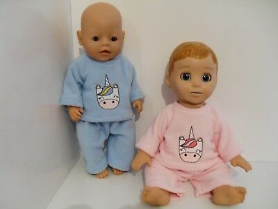 """17""""  Handmade Unicorn Dolls Clothes  To Fit Baby Born Luvabella Or Luvabeau"""