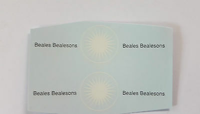 Matchbox 1-75 46b2 Removal Van Beales Bealesons Decal /Transfer