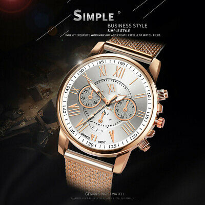Women Ladies Watch Stainless Steel Analog Quartz Dress Bracelet Wrist Watch 1PC