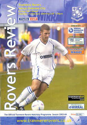 Tranmere Rovers v Swansea City - FA Cup 5th round 14 Feb 2004 FOOTBALL PROGRAMME