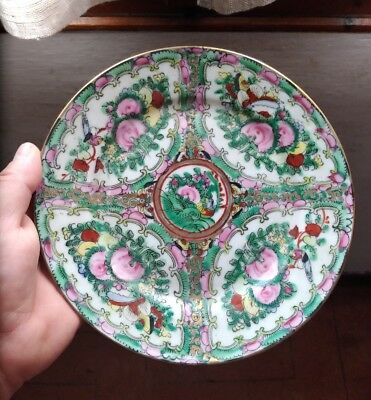 Piatto Cinese Porcellana Canton famille rose old china chinese dish vecchio cina