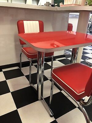 Diner Furniture American Vintage 50s Style, Kitchen, Cafe Dining, Retro Chairs