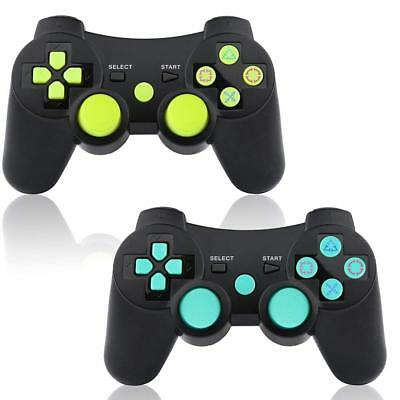 2 Pack Wireless Controller for PS3 Game Remote Controller Replacement Gamepad