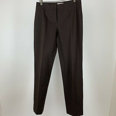 Chicos 00 woman's pants size 2 extra small brown cotton stretch slimming