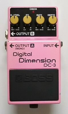 BOSS DC-3 Digital Dimension Guitar Effects Pedal 1989 made in Japan #23 with Box