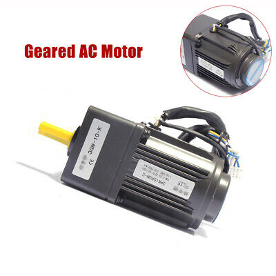 220V AC Gear Motor Electric Motor Variable Speed Controller Reduction Ratio 1:10
