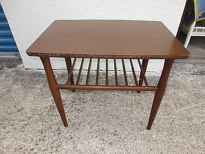 End Table Mid Century Modern Baumritter Side Eames  Viko STY Spindle Bench Rack
