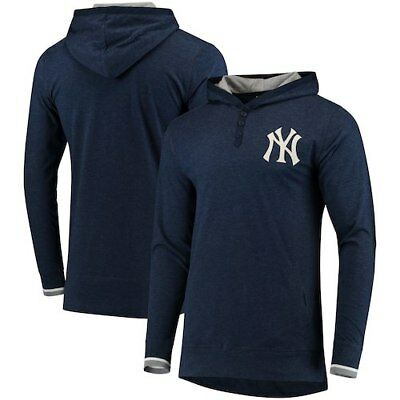 909772e21ce New York Yankees Mitchell & Ness Seal The Win Long Sleeve Hooded T-Shirt -