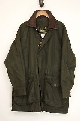 Barbour Mens Endurance Coat C46 46S Unpadded Olive Green Ventile Cotton A1005
