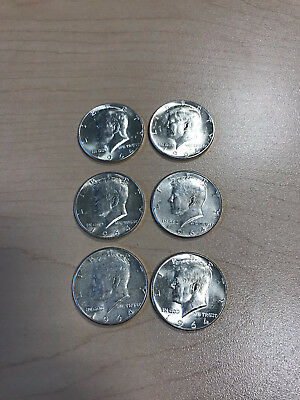 Lot of 6 1964 Kennedy Half Dollar 90% Silver