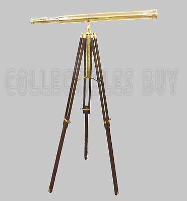 Nautical Vintage Solid Brass Port Marine Navy Telescope Single Barrel Brass Gift