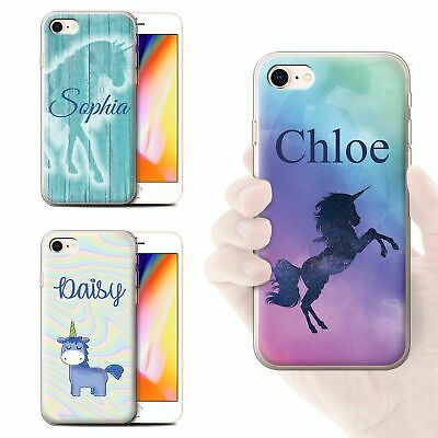 Personalised Handwritten Fantasy Unicorn Phone Case For Apple Iphone Gel Cover