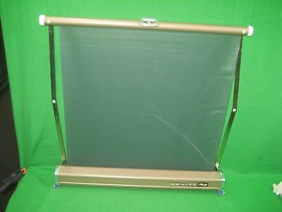 """Vintage Da-Lite Handy Table Top Slide & Movie Screen Made in USA 18"""" By 17"""""""