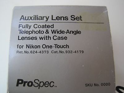 Telephoto & Wide-Angle Lenses for Nikon One-Touch 35MM camera