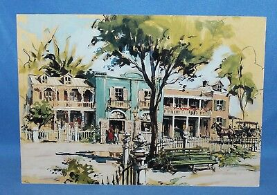 """Rare The Disney Gallery New Orleans Square Disneyland Picture Postcard 7"""" X 5"""""""