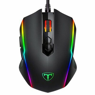 PC Laptop Ergonomic Optical Gaming Wired Mouse RGB Backlit 8 Programmable Button