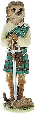 Country Artists Magnificent Meerkats William Wallace Scottish Figurine BRAND NEW