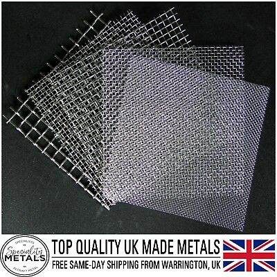 Stainless Steel Woven Wire Mesh (filter grading sheet) Metal Silk to Heavy Gauze