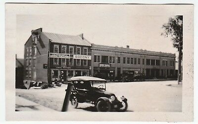 UNIQUE Orig Photo - Socony Gas Station General & Drug Store ca 1920s Peru NY